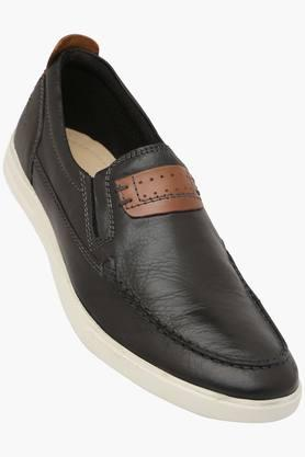 BLACKBERRYS Mens Leather Slip On Loafers  ...