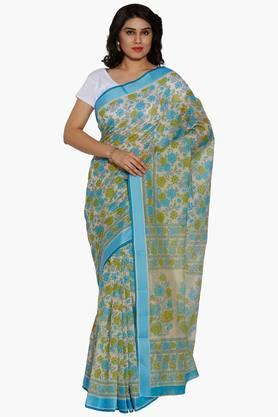 JASHNWomen Floral Print Cotton Saree - 202444495