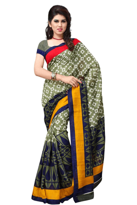 DEMARCA De Marca Multicolor Art Silk Designer DF-532A Saree