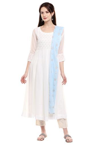 IMARA -  WhiteSalwar & Churidar Suits - Main
