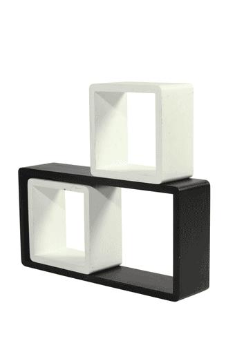 Square Block Wall Shelf Set