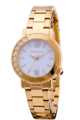 GIORDANO Womens Full Gold Metal Analog Watch- 2753-11