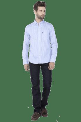 Mens Full Sleeves Slim Fit Causal Check Shirt
