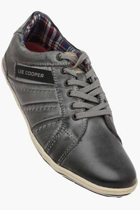 LEE COOPER Mens Leather Lace Up Sneakers  ...