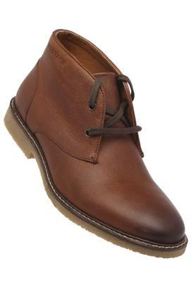 Mens Leather Laceup Boots