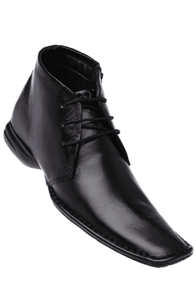 FRANCO LEONE Mens Black Formal Leather Shoe