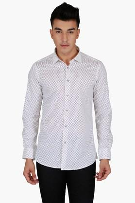 Lawman Formal Shirts (Men's) - Mens Full Sleeves Casual Dotted Shirt