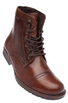 RED TAPE Mens Leather High Ankle Boot