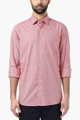 Color Plus Formal Shirts (Men's) - Mens Tailored Fit Check Shirt