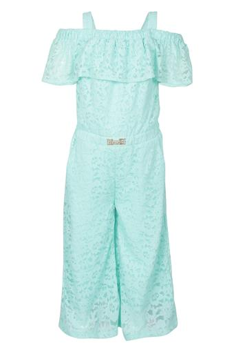 Girls Strappy Neck Lace Jumpsuit