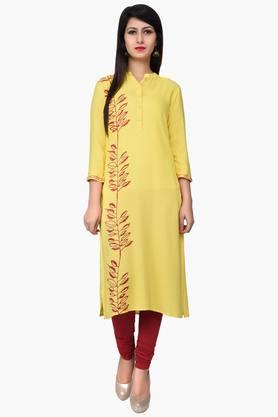 JUNIPER Women Block Printed Long Kurta