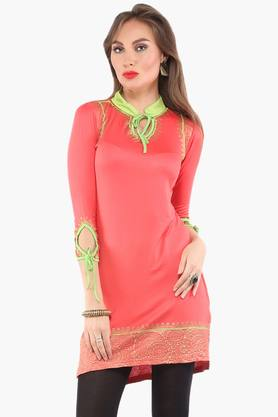 IRA SOLEILWomens Slim Fit Printed Kurta (Buy Any Ira Soleil Product And Get A Charms Bracelet Free) - 201787536