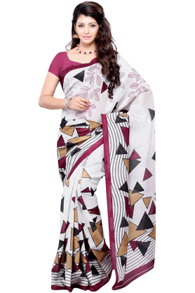 DEMARCA De Marca Multicolor Art Silk Designer DF-394B Saree