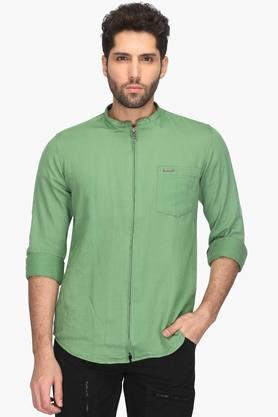 Mens Collared Solid Shirt