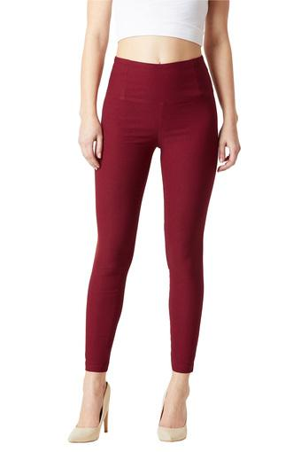 MISS CHASE -  Maroon Jeans & Leggings - Main