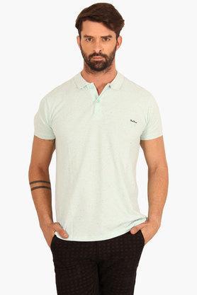 Mens Slim Fit Printed Polo T-Shirt