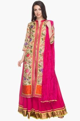 KASHISHWomens Printed Skirt Kurta Dupatta Set