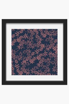 CRUDE AREA Multi Colour Flower At Dawn Printed Framed Art (Small)  ...