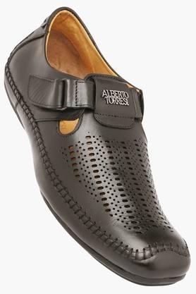 ALBERTO TORRESIMens Casual Velcro Closure Sandal