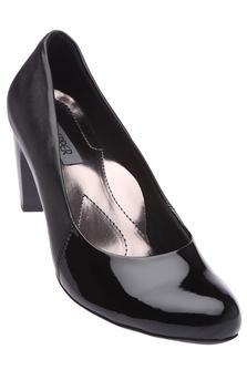 LEMON & PEPPERWomens Solid High Heel Ballerina Shoe