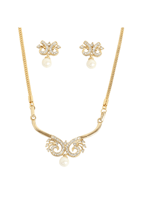 TOUCHSTONE Necklace Set -Mangalsutra Style - 8616281