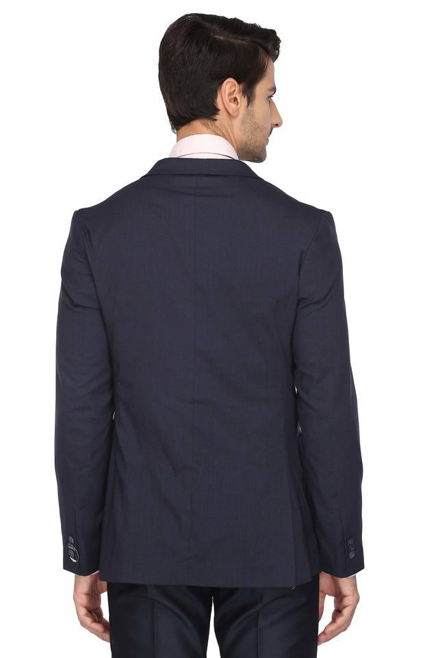 Mens Notched Lapel Solid Blazer with Travel Carry Bag