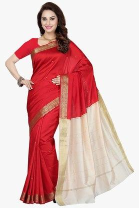 ISHIN Womens Colour-blocked Saree - 201754419