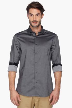 Zod Formal Shirts (Men's) - Mens Printed Regular Collar Shirt