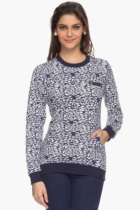 IRIS Womens Round Neck Printed Sweatshirt