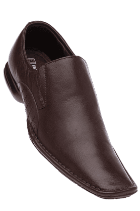 FRANCO LEONE Mens Brown Formal Leather Slipon Shoe