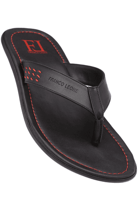 FRANCO LEONE Mens Black Slipper