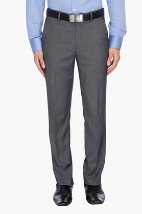 LOUIS PHILIPPE Mens 4 Pocket Slub Formal Trousers - 201758409