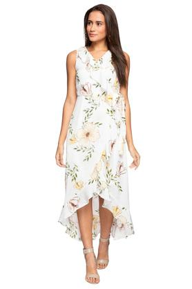f0276e1849d X ZINK LONDON Womens Surplice Neck Floral Printed High ...