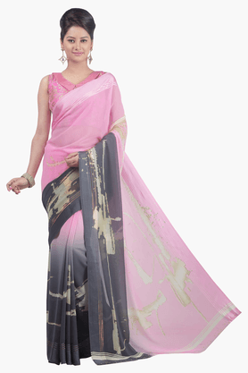 JASHN Womens Colour Block Saree - 201502640