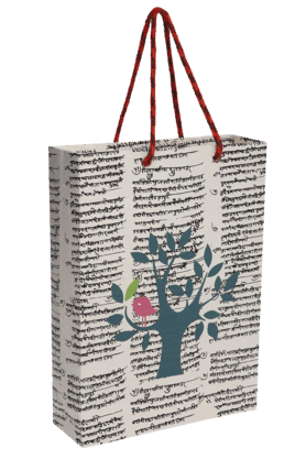 BACK TO EARTH Handmade Paper Big Bag With Tree