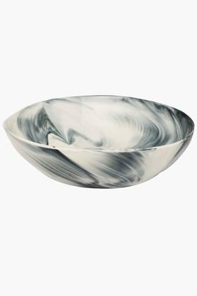 IVY Marble Finish Round Serving Bowl
