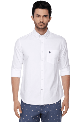 Mens Notched Collar Shirt