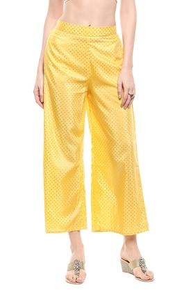 Womens Round Neck Printed Pants Suit