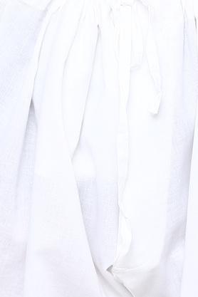 Mens Mandarin Collar Solid Kurta and Churidar Set