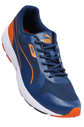 PUMAMens Eggshell Lace Up Running Shoe