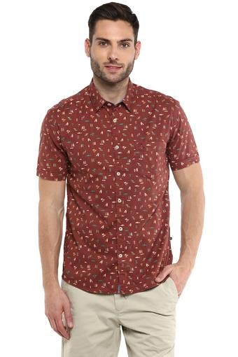PARX -  Brown Casual Shirts - Main