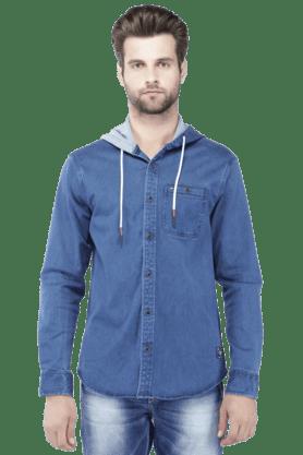TOMMY HILFIGERMens Full Sleeves Slim Fit Solid Jacket