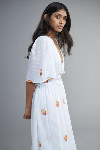 Women's Deep V Neck FriYay Dress
