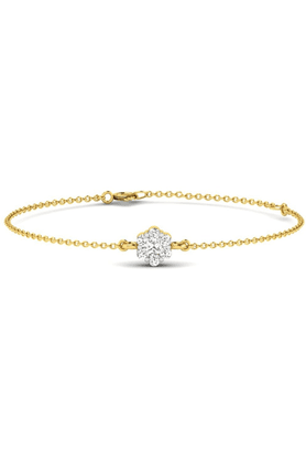 SPARKLES His & Her Diamond Bracelets In Gold And Real Diamond - 0.15 Cts