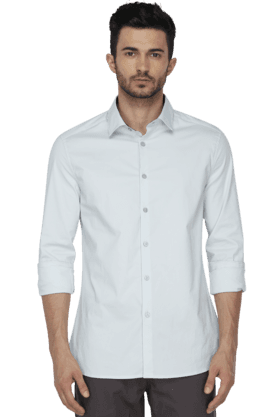 Kenneth Cole Formal Shirts (Men's) - Mens Full Sleeves Slim Fit Casual Solid Shirt