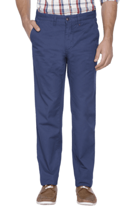 LOUIS PHILIPPE SPORTS Mens Slim Fit Solid Chinos - 200573219