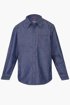 Boys Cotton Solid Shirt