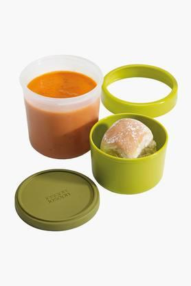Plastic Compact 2 in 1 Food Containers