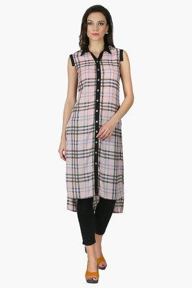 JUNIPER Womens Collared Long Kurta - 202312512