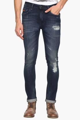 ED HARDY Mens Slim Fit 5 Pocket Mild Wash Jeans - 202161638